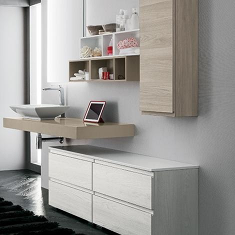 Mobile bagno con piano lavabo sospeso by rab arredobagno - Bagno nuovo prezzi ...