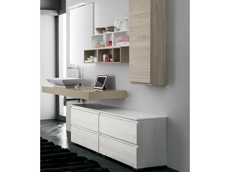 Mobile bagno con piano lavabo sospeso, by Rab Arredobagno, nuovo ...