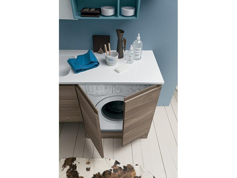 Mobile bagno con porta lavatrice, by RAB arredobagno, nuovo a prezzo ...