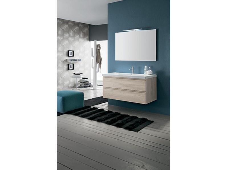 Mobile bagno con specchiera, by RAB arredobagno, nuovo scontato
