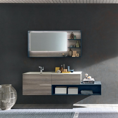 Mobile bagno con specchiera illuminata nuovo a prezzo - Specchiera bagno prezzi ...