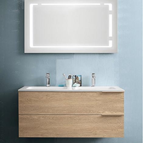 Mobile bagno con specchiera retroilluminata by rab - Mobile bagno prezzo ...