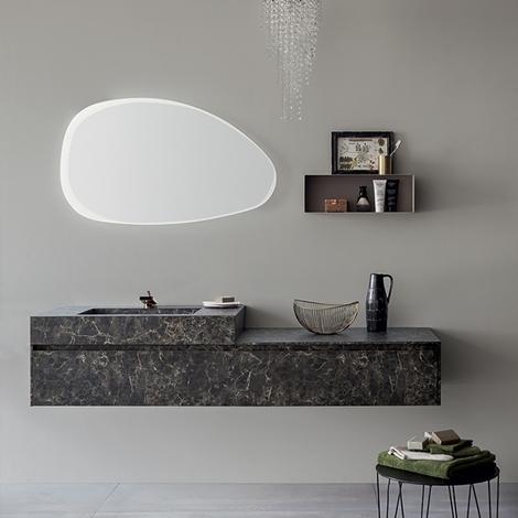 Mobile bagno con specchiera smussata by rab arredobagno - Rab arredo bagno ...