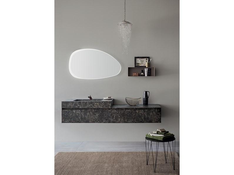 Mobile bagno con specchiera smussata by rab arredobagno for Proposte di arredo