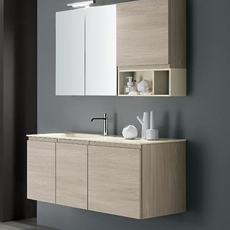 Mobile bagno con specchio contenitore by rab arredobagno - Rab arredo bagno ...