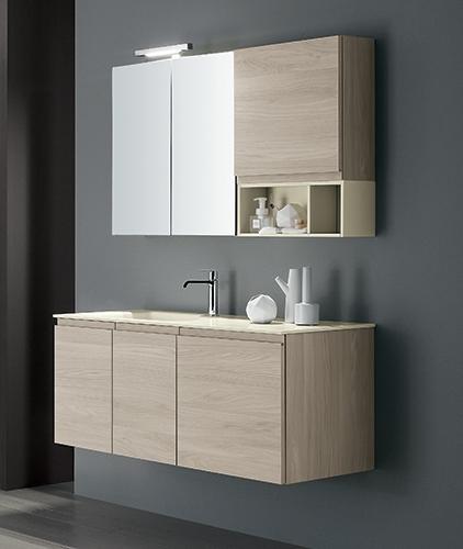 Mobile bagno con specchio contenitore by rab arredobagno for Nuovo arredo camerette prezzi