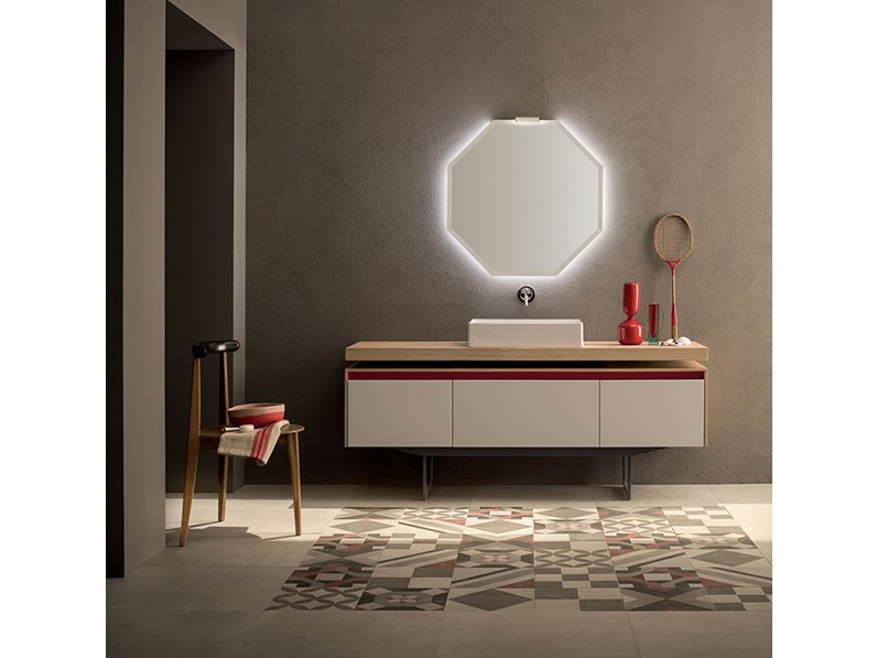 Mobile bagno con specchio ottagonale retroilluminato, by RAB ...