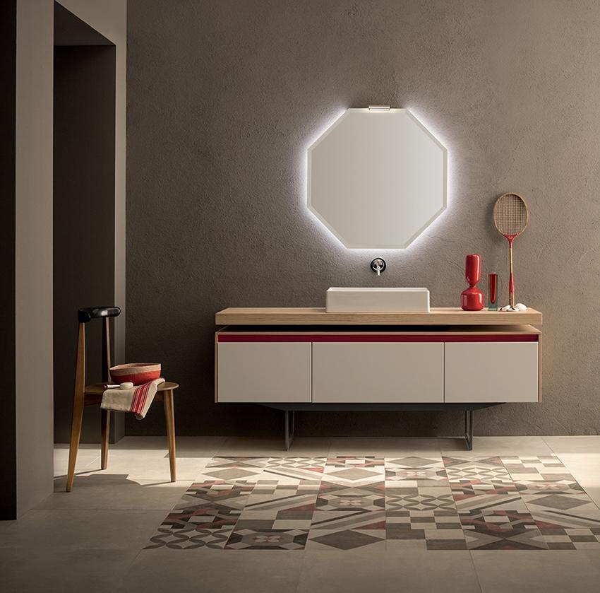 Mobile bagno con specchio ottagonale retroilluminato by - Bagno nuovo prezzi ...