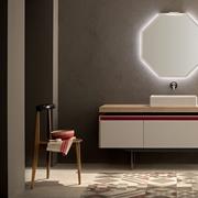Mobile bagno in legno etnico iroko con lavabo in radice di sessham in offerta arredo bagno a - Specchio retroilluminato bagno ...