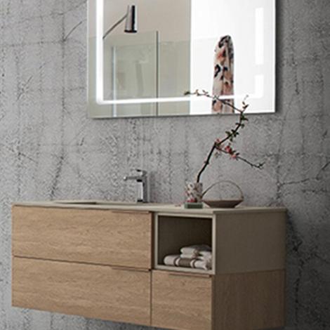 Mobile bagno con specchio retroilluminato by rab - Specchio parabolico prezzo ...