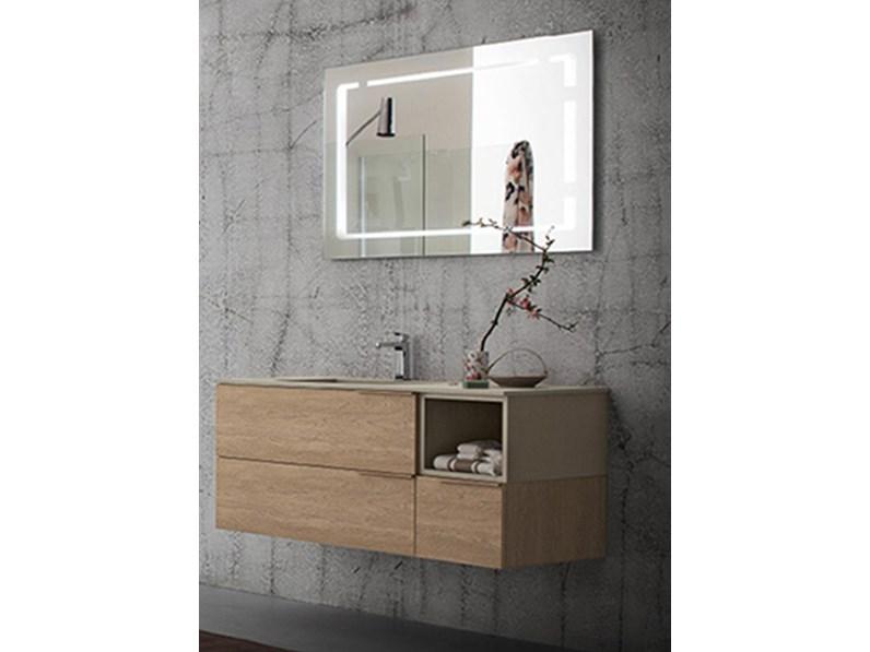Mobile bagno con specchio retroilluminato, by RAB arredobagno ...