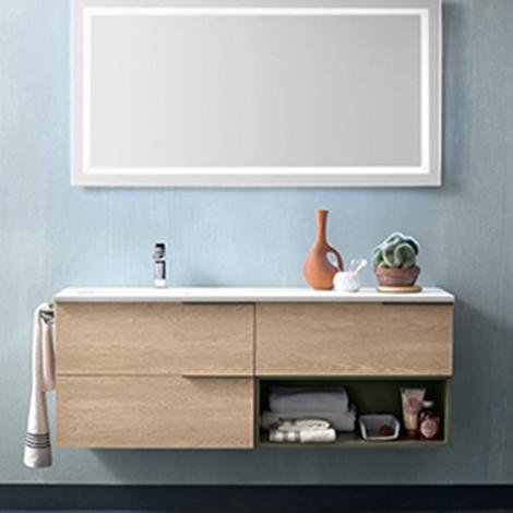 Mobile bagno con specchio retroilluminato by rab - Rab arredo bagno ...