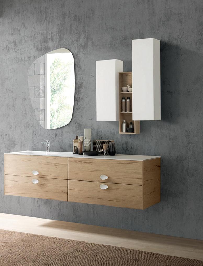 Mobile bagno con specchio sagomato nuovo a prezzo - Mobile bagno con specchio ...