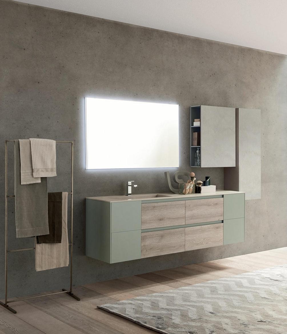 Mobile bagno con vasca in gres porcellanato nuovo a - Mobile bagno prezzo ...
