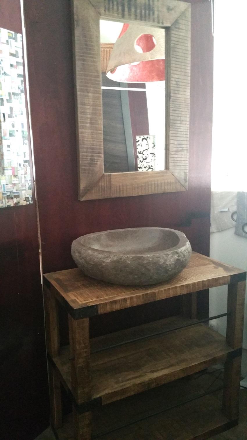 Mobile bagno consolle con ripiano tutto legno massello - Offerta mobile bagno ...