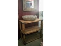 Ripiani In Legno Massello : Mobile bagno consolle con ripiano tutto legno massello sessham wood