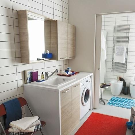 mobile bagno copri lavatrice arbi. prezzo offerta sconto 20 ... - Arredo Bagno Coprilavatrice