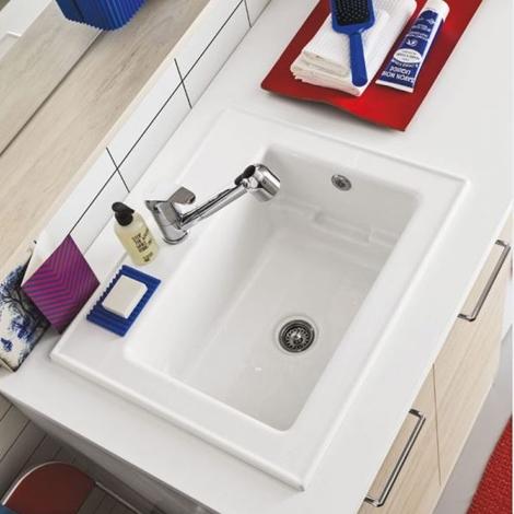 Mobile bagno copri lavatrice Arbi. Prezzo offerta sconto 20% - Arredo bagno a prezzi scontati