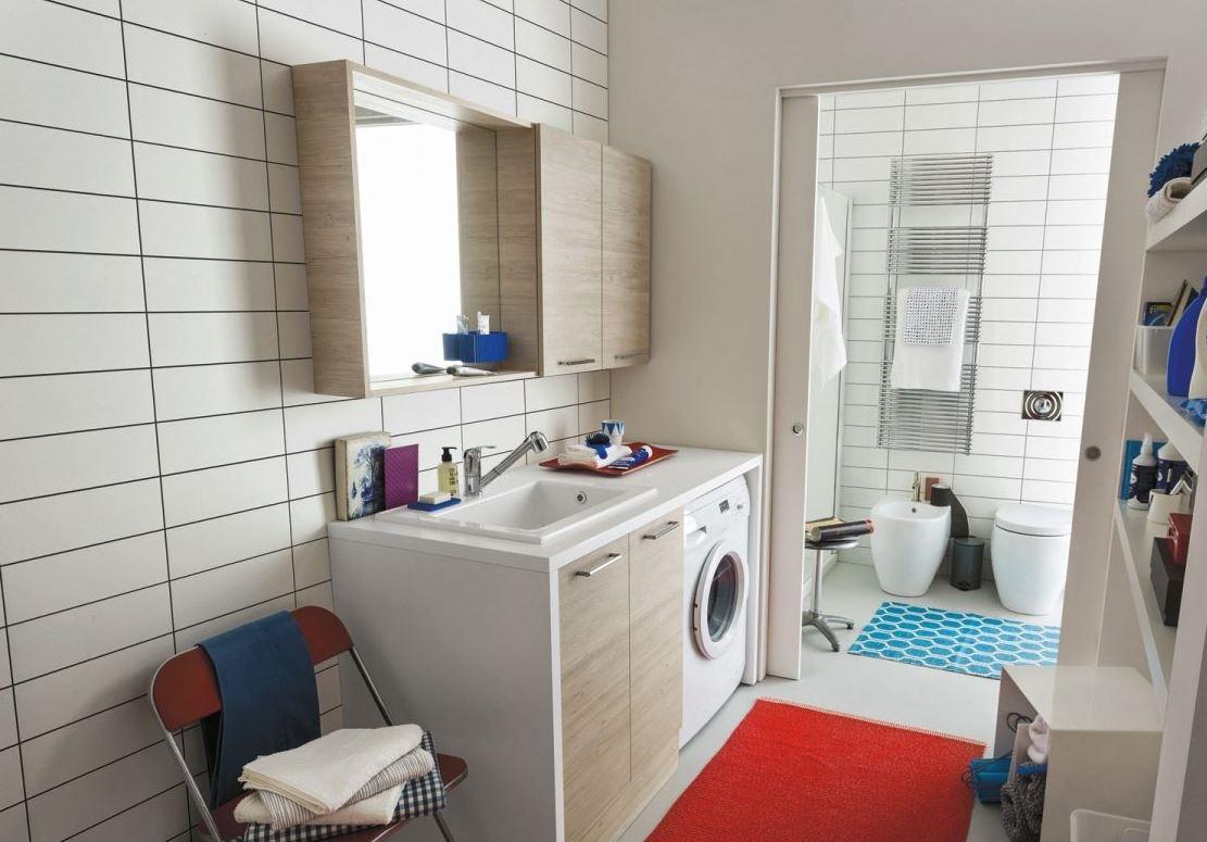 Mobile bagno copri lavatrice arbi prezzo offerta sconto - Mobile bagno prezzo ...