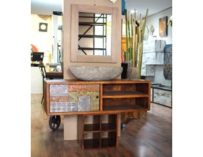 Mobile bagno dekor etno legno Nuovi mondi cucine: mobile da bagno A PREZZI OUTLET