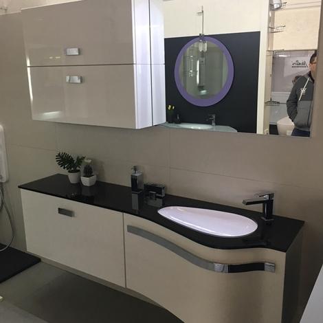 Mobile bagno design arteba curvo scontato del 51 arredo for Mobile bagno curvo sospeso