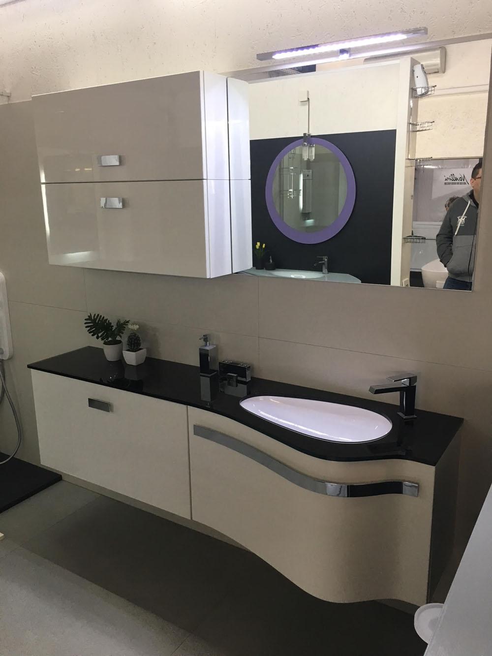 Mobile bagno design arteba curvo scontato del 51 arredo for Layout del bagno principale