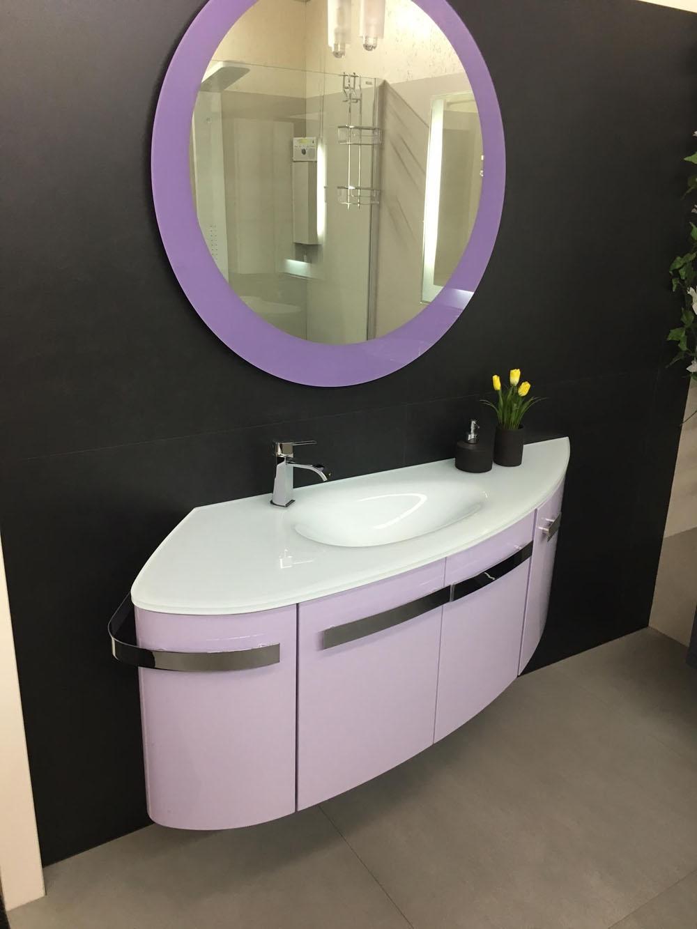 Mobile bagno design tondo arteba scontato del 51 arredo for Arredamento design scontato