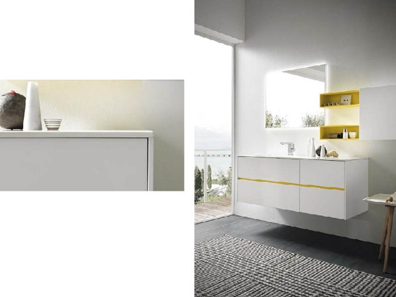 Mobile bagno di Azzurra bagni Linea 2.0 composizione 05 con uno sconto del  30%