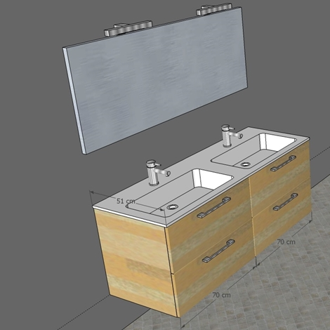 Mobile bagno doppio lavabo in promozione arredo bagno a - Lavabo doppio bagno ...