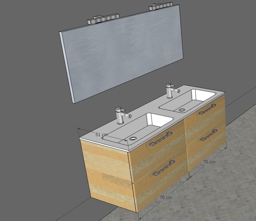 Mobile bagno doppio lavabo in promozione arredo bagno a - Dimensioni lavandino bagno ...