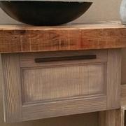 mobile bagno essenza rovere vecchio in offerta pezzo unico con piano in cedro indiano