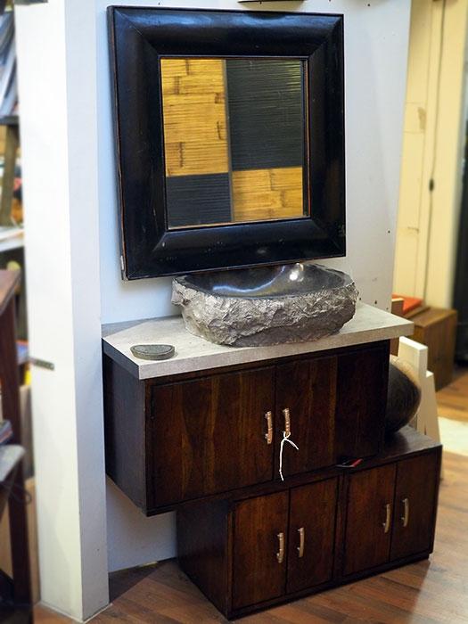 Mobile bagno etnico in offerta convenienza outlet in legno for Etnico outlet