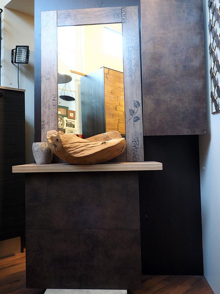 Mobile bagno etnico seta bronzo minimal in offerta for Mobile bagno minimal