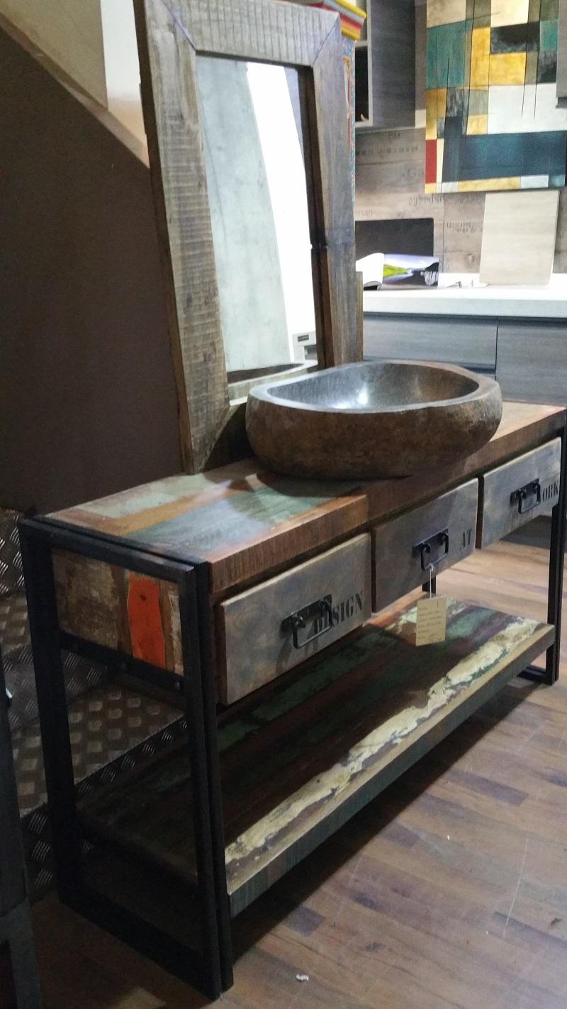 mobile bagno etno industrial in offerta outlet convenienza ...