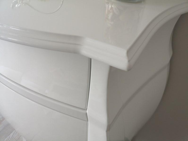 Mobile bagno Euro bagno Comodino barocco bianco laccato a prezzo scontato  59%