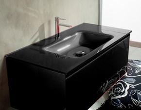 Mobile bagno Euro bagno Cristallo nero cm 105 a prezzo ribassato 61%