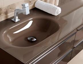 Mobile bagno Euro bagno Modello marron brillante cm 126 IN OFFERTA OUTLET