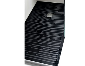 Mobile bagno Euro bagno Piatto doccia in cristallo bianco con righe cm 80x180 a prezzo ribassato 58%