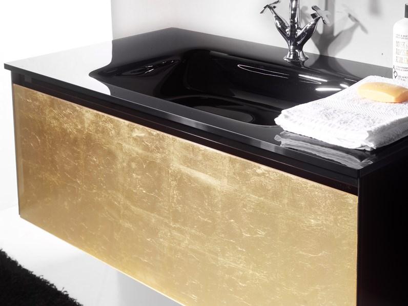 Mobile Bagno Euro Bagno Refled Oro Lavabo Integrato Con Un Ribasso Del 61