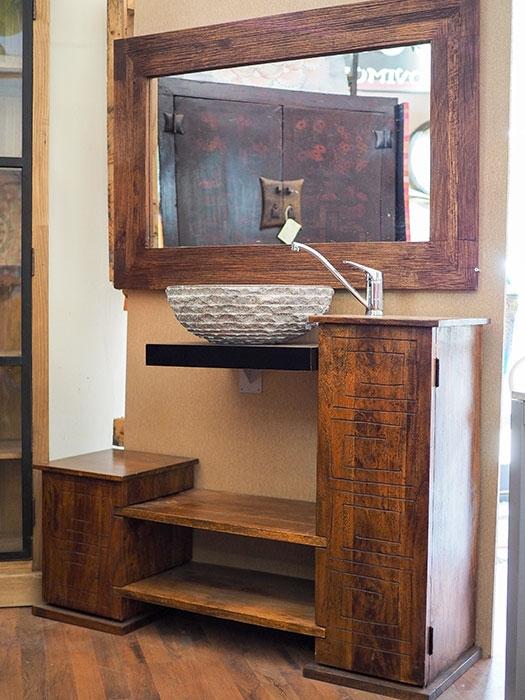 Mobile bagno exotica in legno di sessham in offerta outlet for Arredo bagno in legno