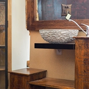 mobile bagno exotica in legno di sessham in offerta outlet compreso specchio