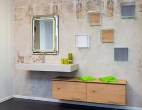 Mobile bagno Fenice rovere naturale, piano ecomalta con vasca integrata SCONTATO 25%