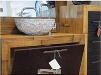 mobile bagno in legno e carsh bambu miele e black in offerta ...