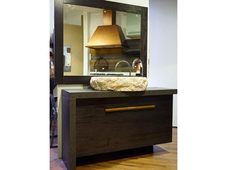 Mobile bagno in legno vintage brown in offerta outlet for Arredo bagno outlet