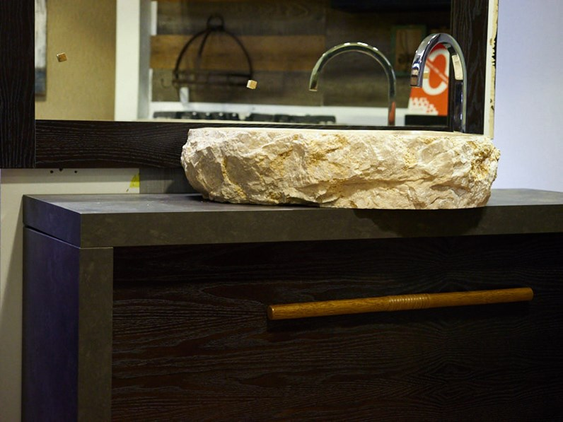 mobile bagno in legno vintage brown in offerta outlet nuovimondi ...