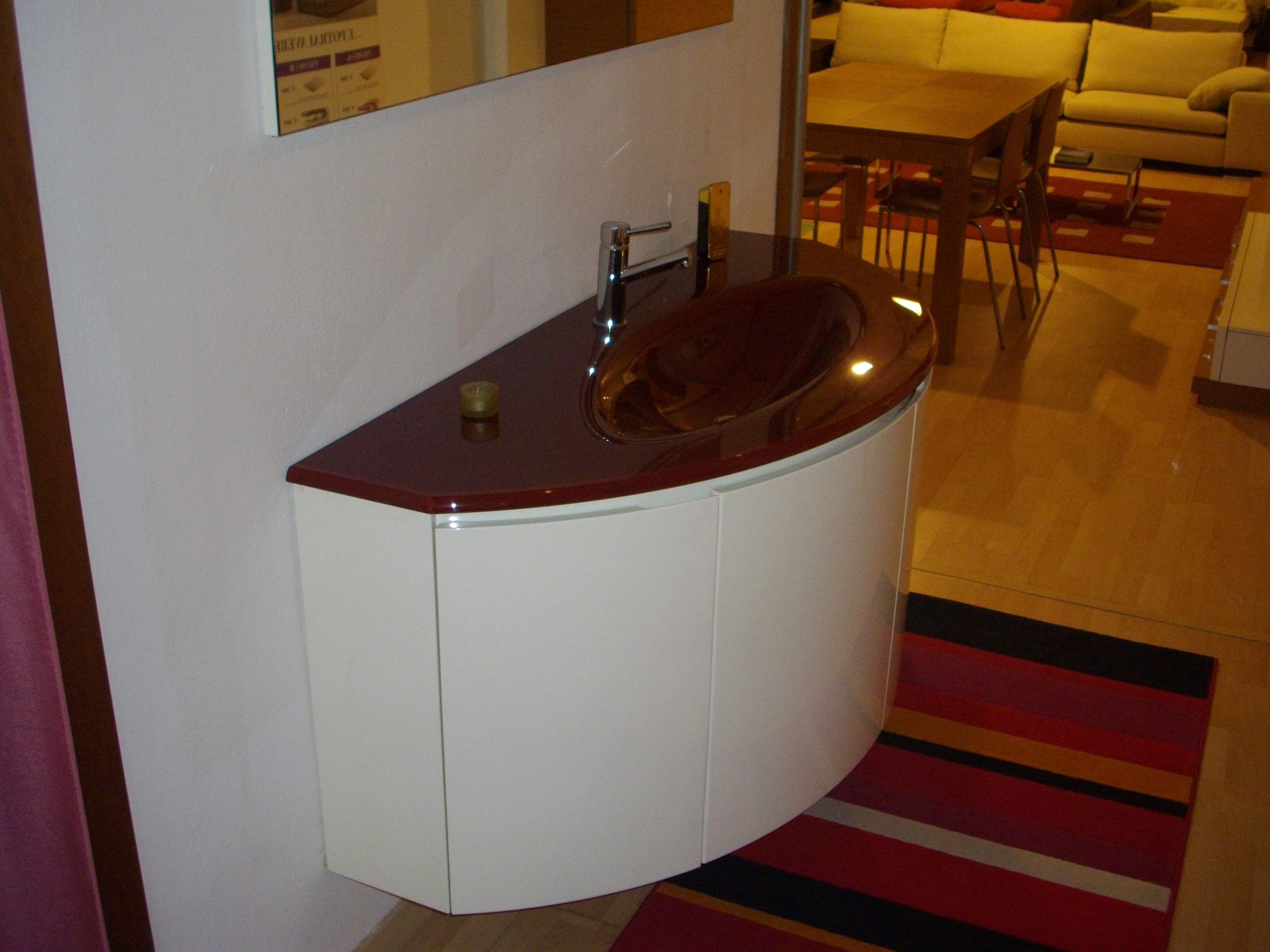 Mobile bagno curvo scontato del 67 arredo bagno a - Mobile bagno curvo ...