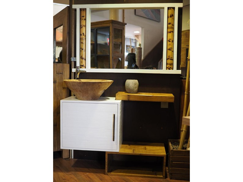 mobile bagno in offerta in legno e crash bambu sconto outlet nuovimondi