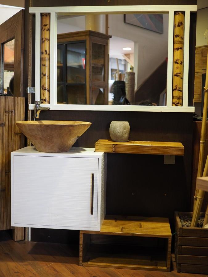 Mobile bagno in offerta in legno e crash bambu sconto for Outlet arredo