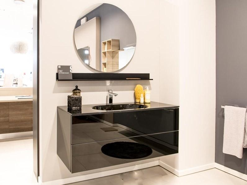 Mobile bagno in vetro font scavolini outlet for Mondini arredamenti