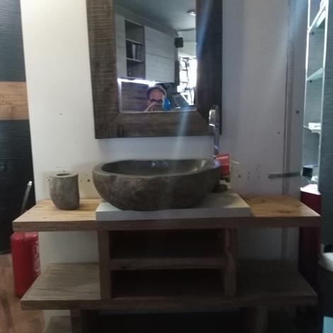 Mobile bagno iroko convenienza outlet arredo bagno a for Outlet arredo bagno roma